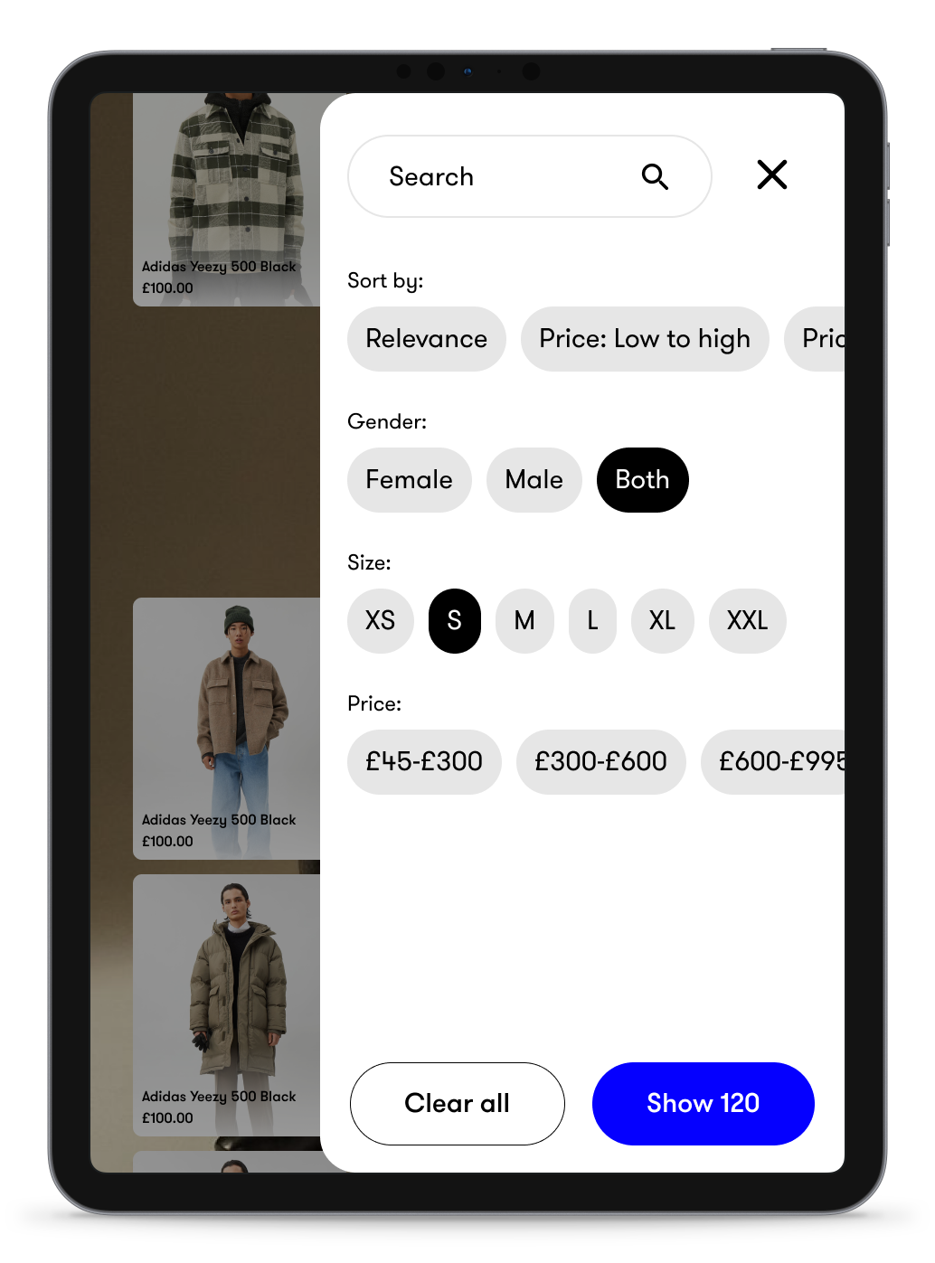 Use smart filters to help customers choose